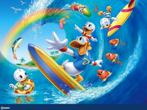 donald-duck-surfing